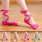 四季露趾專業純棉女士瑜伽襪 舞蹈襪 露背系帶襪瑜珈硅膠防滑襪子 至簡元素