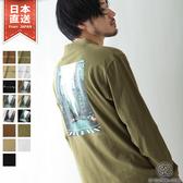 微高領長袖T恤 LOGO T恤 S-M