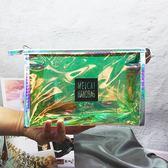 化妝包 新品鐳射透明化妝包小號女可愛旅行防水洗漱包便攜收納大容量【快速出貨】