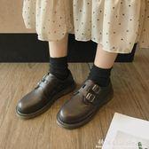 皮鞋英倫風女春季復古圓頭學生學院風韓版百搭軟妹單鞋 科炫數位