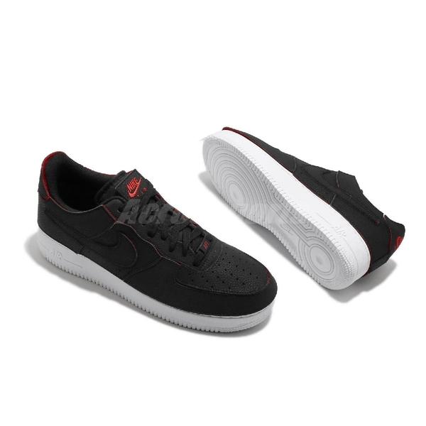 Nike 休閒鞋 AF1/1 黑 綠 橘紅 魔鬼氈 可換貼片 Air Force 1 男鞋 【ACS】 DD2429-001