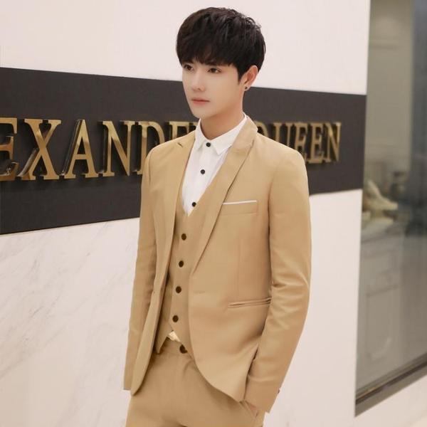 西裝外套西服上衣男士修身韓版英倫風正裝休閒帥氣上班商務潮流小西裝外套 小山好物
