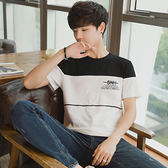 夏季男士短袖t恤 韓版圓領寬鬆青少年體恤男裝潮流衣服(全館滿1000元減120)