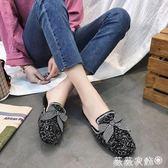 穆勒鞋 時尚外穿包頭半拖社會百搭拖鞋無后跟懶人穆勒鞋 女 薇薇家飾