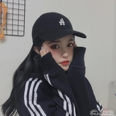 韓國MLB棒球帽彎檐女男道奇LA紐約NY洋基隊小標新款情侶鴨舌遮陽