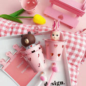【BlueCat】粉色手提小愛心小水桶