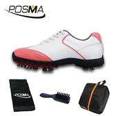 高爾夫球鞋 女款 英倫風 防水超纖皮 防水運動鞋 GSH080WPNK