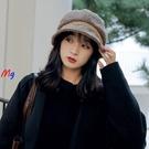 MG 帽子女 漁夫帽 純色 保暖 毛絨 盆帽