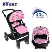 荷蘭DOOKY-抗UV萬用推車遮陽罩-粉紅底星星