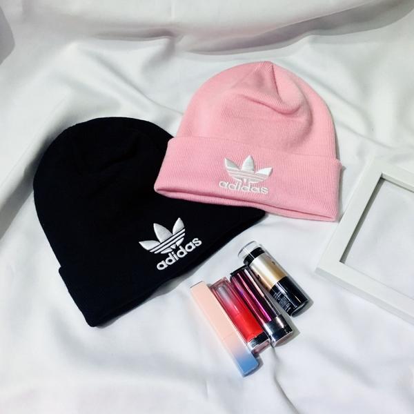 IMPACT Adidas Trefoil Beanie Fur Cap 毛帽 粉 三葉草 男女 百搭 DH4299