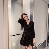 女神網紅穿搭秋冬新款減齡女神范網紅洋氣西裝領短褲套裝兩件套裝裙T121C.愛尚布衣