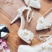 鞋子 立體花朵繫踝魚口高跟鞋-Ruby s 露比午茶