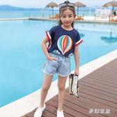 女童短袖t恤2019夏裝新款韓版兒童裝大童洋氣純棉寬鬆T女孩潮上衣 qf25186【夢幻家居】