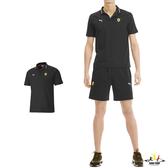 Puma T7 黑色 男款 短袖 POLO衫 上衣 運動 法拉利 健身 高爾夫 排汗 棉質 透氣 短袖上衣 59615502