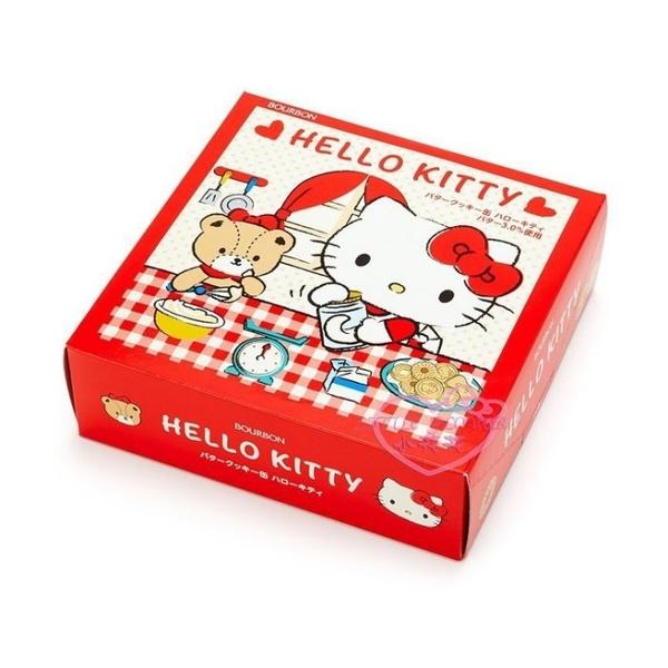 小花花日本精品Hello Kitty 格紋 日本 圓型鐵盒餅乾 綜合餅乾禮盒 下午茶 送禮 伴手禮90122705