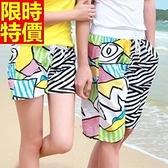 情侶款海灘褲(單件)-防水衝浪彩色拼接塗鴉設計男女沙灘褲66z23【時尚巴黎】