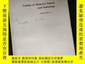 二手書博民逛書店Treatise罕見on Materials Science and TechnologyY16149