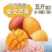 沁甜果園SSN.屏東枋山愛文芒果5台斤(6-8粒/箱,共2箱)﹍愛食網