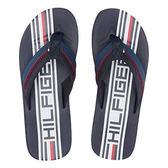 Tommy Hilfiger- 男Daylon品牌標誌圖案涼鞋(深藍)