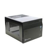 SilverStone 銀欣 SG06 黑色 SST-SG06 Mini ITX 電腦機殼 (內建300瓦 80 PLUS電源)