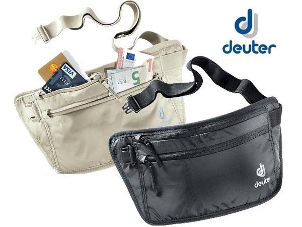 丹大戶外【Deuter】德國 隱藏式腰包、隨身輕便腰包/零錢包/隨身袋/證件包/防竊包 3910316白卡其/黑
