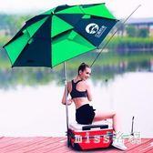 釣者釣魚傘2.2米萬向防雨2.4米加厚折疊遮陽防曬折疊垂釣雨傘 js7356『miss洛羽』