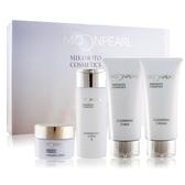 MIKIMOTO MOONPEARL 珍珠精緻旅行組(II)[潔膚霜+洗面乳+化妝水+滋養霜]