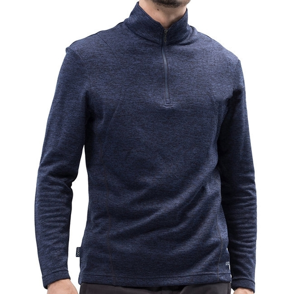 PolarStar 男 立領保暖長袖上衣『深藍』 P18265 戶外│休閒│登山│露營│機能衣│刷毛衣