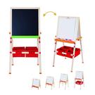 ◆白板黑板雙面磁性 ◆可收納折疊 ◆可調整高度 75-134 cm ◆大容量收納 ◆防滑靜音安全腳套