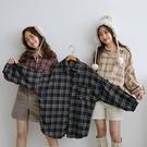 現貨-MIUSTAR 單口袋男友風格紋襯衫(共3色)【NH2604】