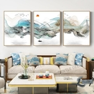 客廳壁畫裝飾畫沙發背景墻掛畫山水畫墻畫【邻家小鎮】