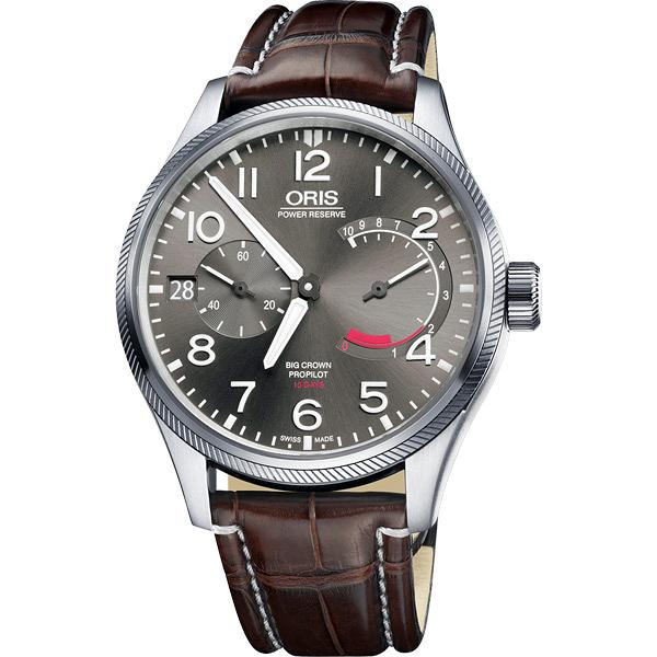 ORIS 豪利時 大錶冠 ProPilot Calibre 111手動上鍊手錶-44mm 0111177114163-0712272FC