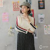 CANTWO運動女孩滾條針織上衣-共三色