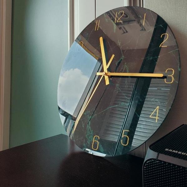 靜音掛鐘客廳石英鐘表家用時鐘創意時尚現代簡約大氣藝術輕奢北歐3 幸福第一站