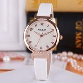 學生手錶女時尚潮流水鑽簡約手錶正韓中學生女孩電子防水石英腕錶WY