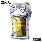 『潮段班』【GN0LY650】夏季緊身無袖纖維彈傷性痕卡漫造型圖騰造型背心內搭上衣