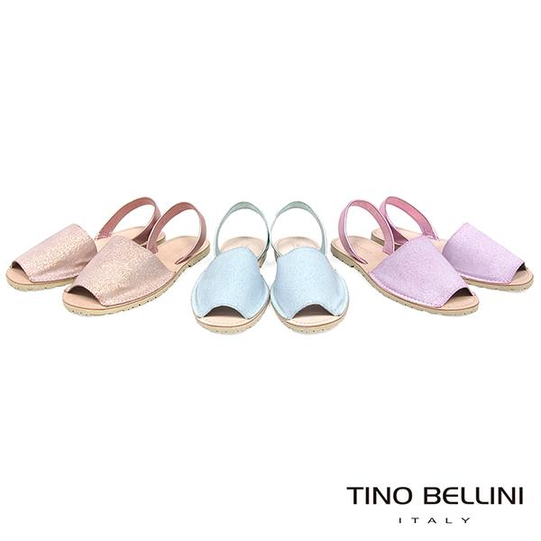 Tino Bellini 西班牙進口睛漾亮彩馬卡龍魚口涼鞋 _ 粉藍 A83065 歐洲進口款
