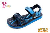 GP涼鞋 大童 磁扣兩穿休閒防水涼鞋 I6662#藍色◆OSOME奧森鞋業