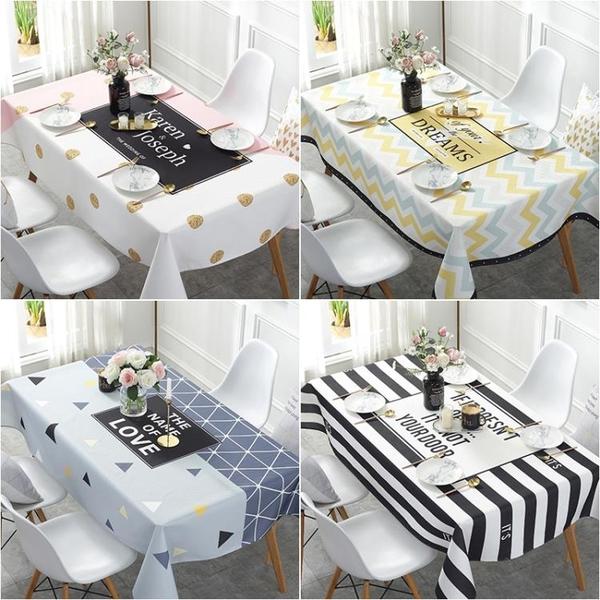 北歐棉麻防水防油免洗茶幾蓋布書桌布藝長方形餐桌布網紅防燙臺布