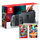 Nintendo 任天堂 NS主機(電光紅藍/灰)+超級瑪利歐 奧德賽+1-2-Switch日英文合