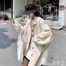 熱賣長版襯衫 韓版黑色燈芯絨襯衫2021秋季女裝新款寬鬆中長款港風長袖襯衣外套【618 狂歡】