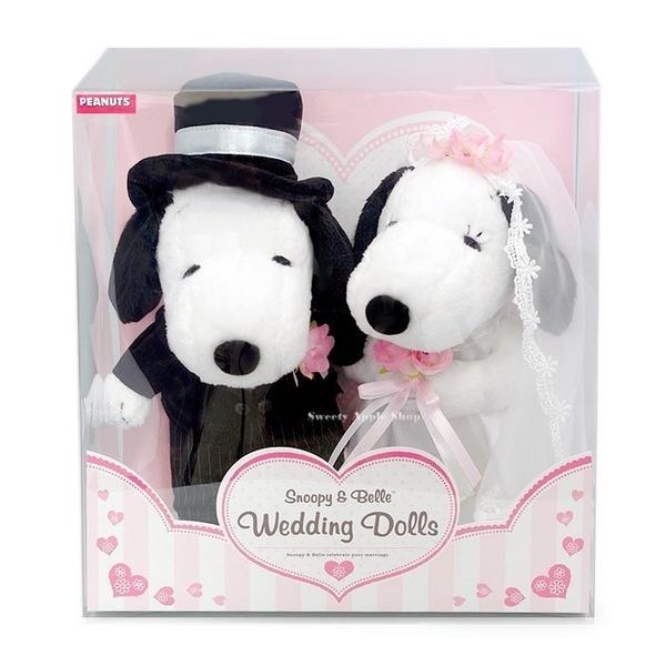 日本限定 SNOPPY 史努比 結婚婚禮版 對偶玩偶 禮盒套組