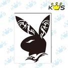 【浮雕貼紙】個性兔頭 # 壁貼 防水貼紙 汽機車貼紙 8.1cm x11.2cm