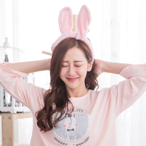 兔耳朵造型可愛束髮帶(2色)