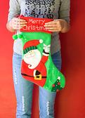 超可愛聖誕襪 聖誕節裝飾品 禮物袋 禮品(經典絨球聖誕老人/波板糖老人/波板糖雪人 )