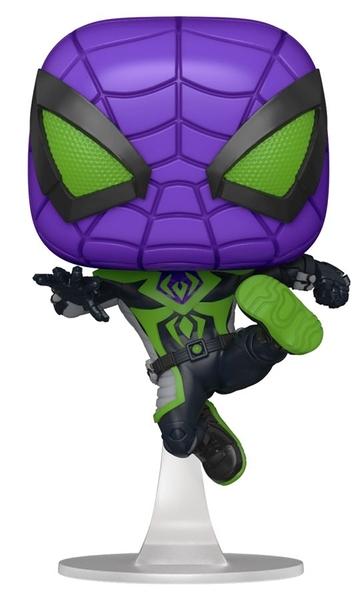 【 Funko 】POP遊戲系列 漫威蜘蛛人 邁爾斯 蜘蛛人 Purple Reign 裝 (FK54695) / JOYBUS玩具百貨