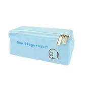 小禮堂 角落生物 恐龍 方形尼龍拉鍊筆袋 鉛筆盒 鉛筆袋 (藍 LOGO) 4930972-50185