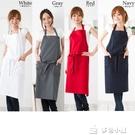 圍裙 全新韓版棉圍裙日本日式高檔圍裙棉時...