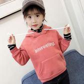 女童加絨大學T兒童高領加厚保暖韓版潮洋氣寶寶上衣女gogo購