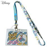 日本限定 迪士尼 唐老鴨 英字繪圖  掛繩頸帶  票卡夾 / 識別證 卡套